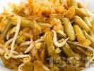 Рецепта Бункис кетжаб - зелен фасул със соев сос, сусамово и фъстъчено масло